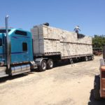 Trucks being loaded for Montana