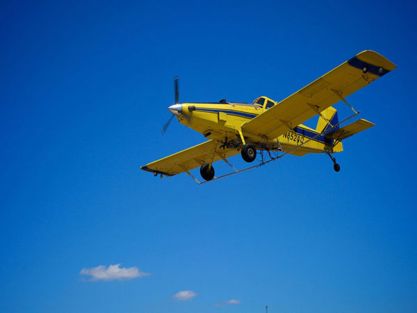 aerial crop application plane
